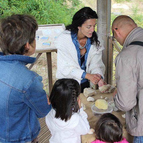 Atelier de découverte de fossiles de Saint-Césaire